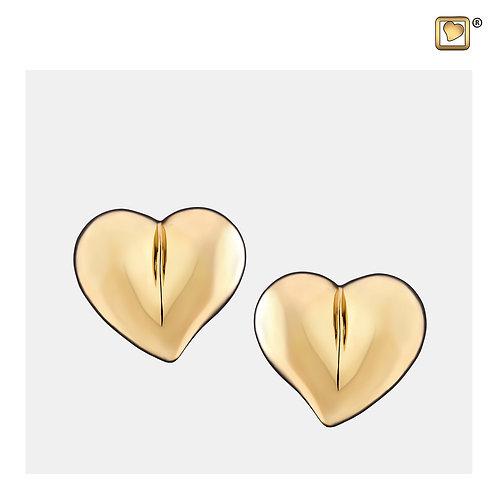 LoveHeart Stud Earrings Polished Gold Vermeil