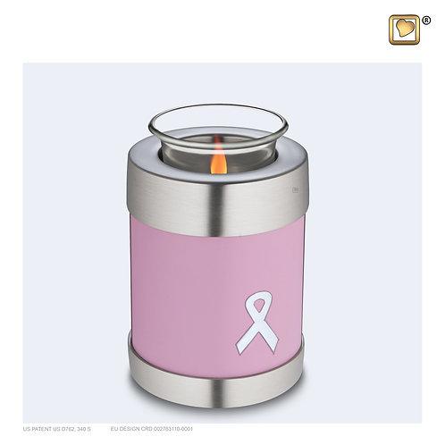 Awareness Tealight Urn Pink