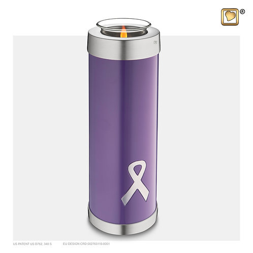 Awareness Tall Tealight Urn Purple