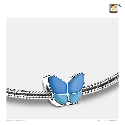 Wings of Hope Ashes Bead Pearl Blue