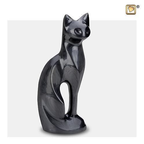 Cat Pet Urn Pearl Midnight