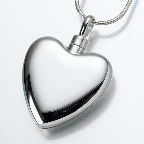 Large Sterling Silver Heart