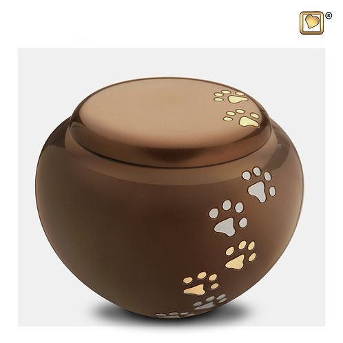 Cuddle  Pet Urn Bronze & Brushed Gold