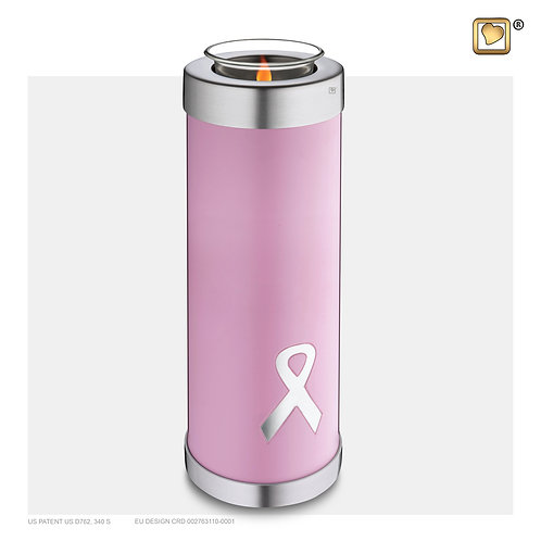 Awareness Tall Tealight Urn Pink
