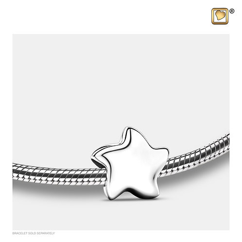 Angelic Star Ashes Bead Polished Silver