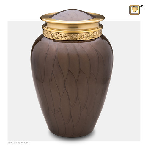 Blessing Urn Pearl Bronze & Brushed Gold