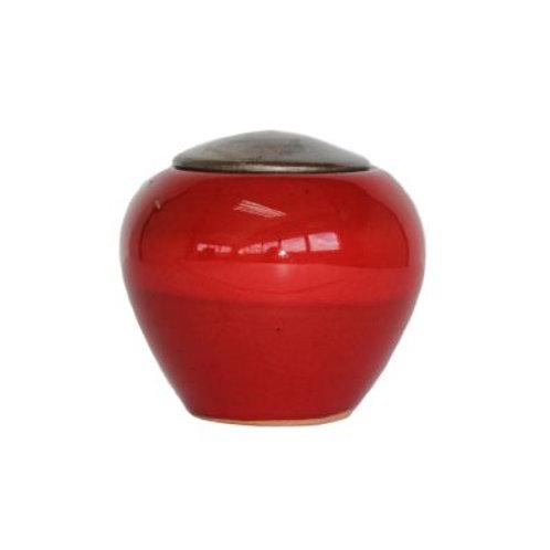 Handcrafted Pottery Crimson Keepsake
