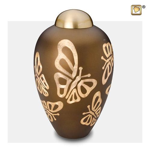 Elegant Butterfly Urn Bronze & Brushed Gold