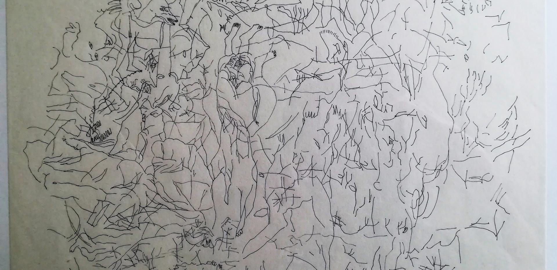 Sous-bois encre sur papier japon 24 x 33 cm