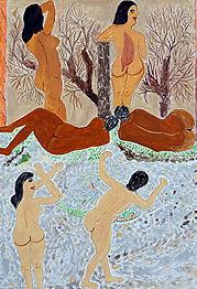 Reza Shafahi  Acrylique sur carton 70x50