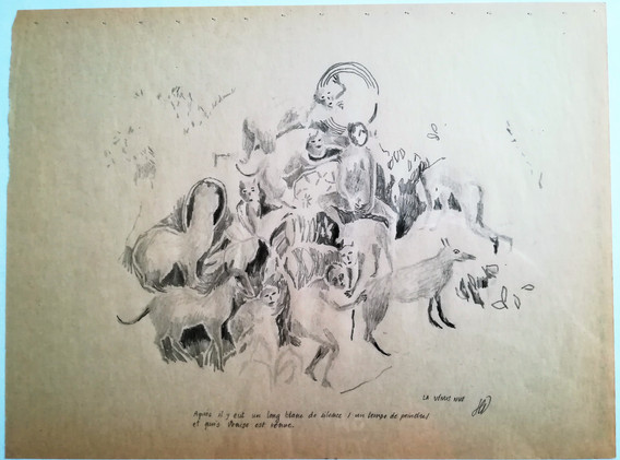 La Vénus nue mine graphite sur papier 23 x 30,5 cm