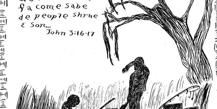 Fishermen, John 3:16 | non daté encre sur papier