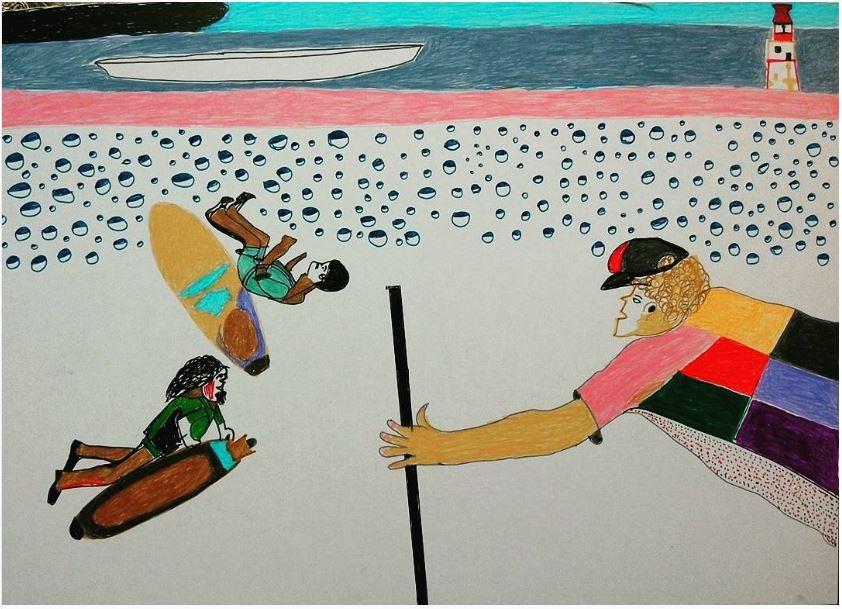 Sans titre | 2017 Feutre et crayon de couleur sur papier 22 x 30 cm