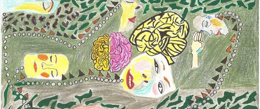 Sans titre   2017 Feutre et crayon de couleur sur papier 22 x 25 cm