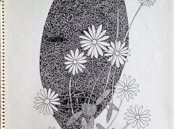 Sphynx (?) | 1966 Encre sur papier ex collection Gaston Ferdière