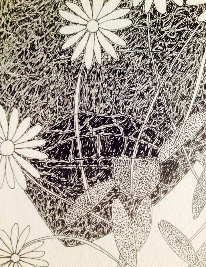 Sphynx (?) | 1966 Encre sur papier (détail) ex collection Gaston Ferdière