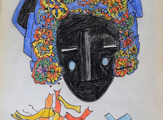 Sans titre   non daté Feutre et crayon de couleur sur papier