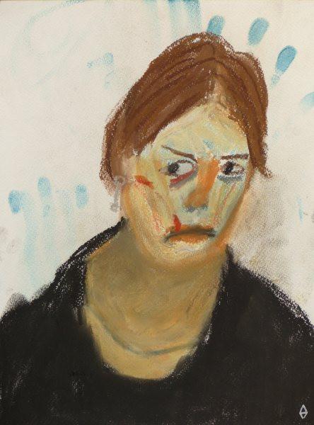 Autoportrait à 23 ans Craie 24x32 cm