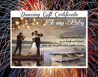 dancing gift cert on the dock.jpg