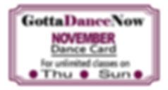 November Dance Card w out Sat for 2019_0
