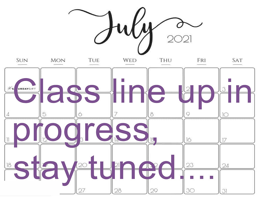 july cal class line up in progress stay