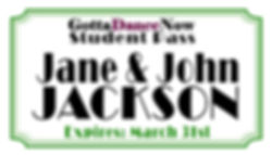 MARCH DANCE CARD BACK Jane & John Jackso