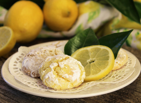 Triple Lemon Butter Cookies