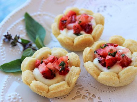 Spring Time Flower Tartelettes