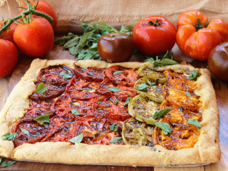Rustic Heirloom Tomato Tart