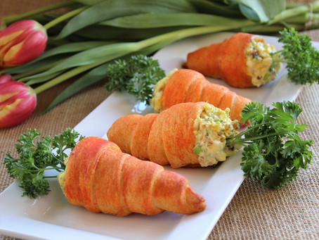 Crescent Carrots with Bacon and Egg Salad