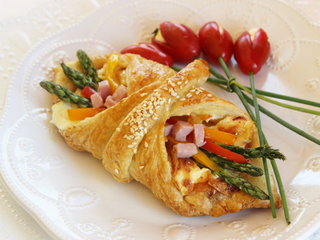 Ham and Asparagus Pastries with Cream Cheese-The Perfect Treat for Mom!