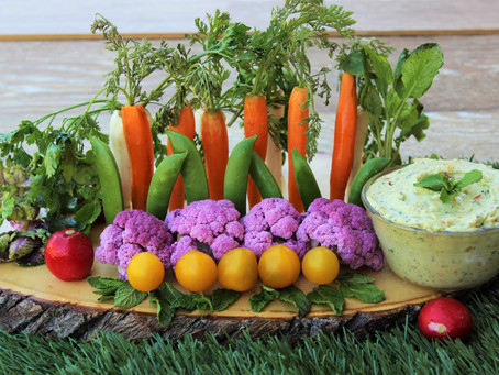 Vegetable Garden with Avocado Garden Dipping Sauce
