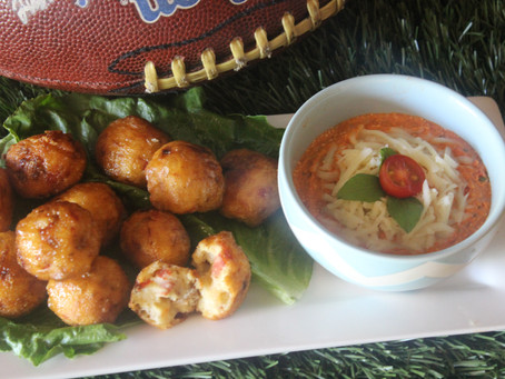 Touchdown Pizza Fritters!