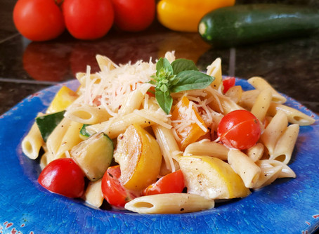 Parmesan Pasta with Summer Vegetables
