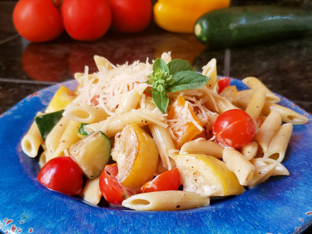 Parmesan Pasta with Summer Vegetables