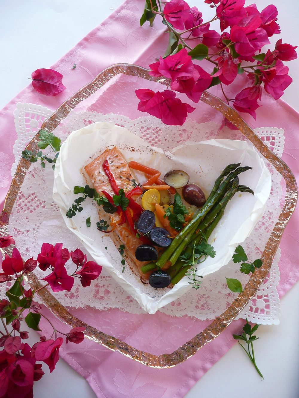 Salmon in paper hearts 2.JPG