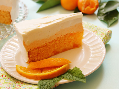 Keep Your Cool with Orange Dreamsicle Ice Cream Cake This Summer!