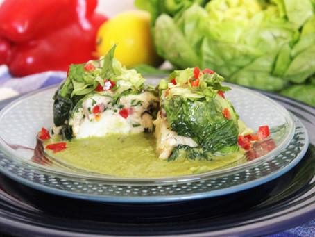 Butter Lettuce Wrapped Crab and Halibut  with Lettuce Butter Sauce
