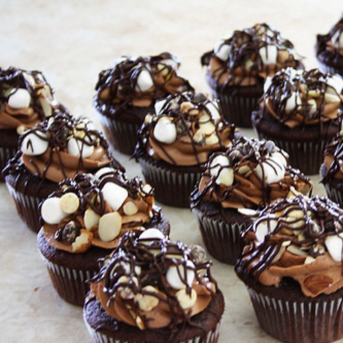 CUPCAKES BY THE DOZEN, ROCKY ROAD