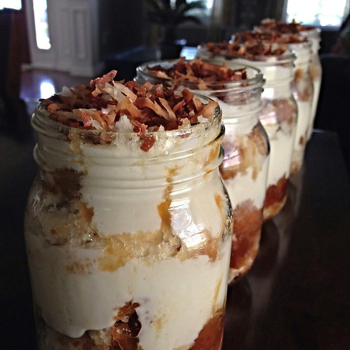 MASON JAR CAKES, COCONUT CAKE (Quantity of five)