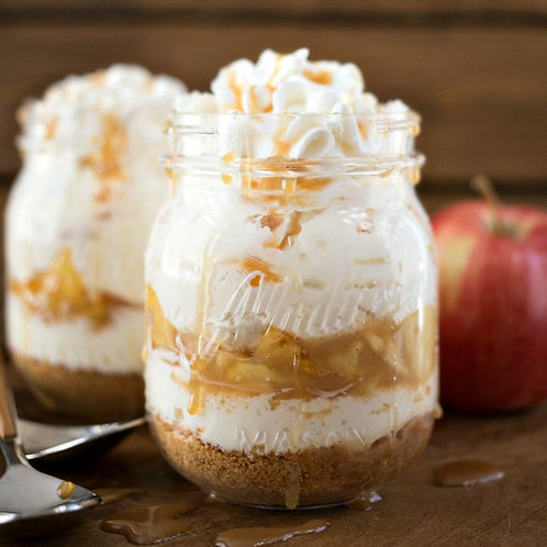 MASON JAR CAKES, CARAMEL APPLE (Quantity of five)