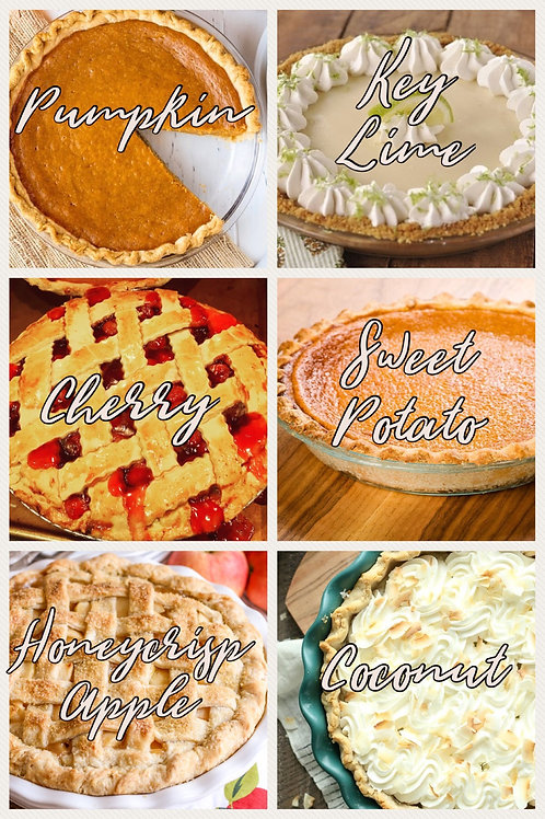 PIES, ASSORTED FLAVORS