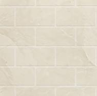 Silver White Marble Subway
