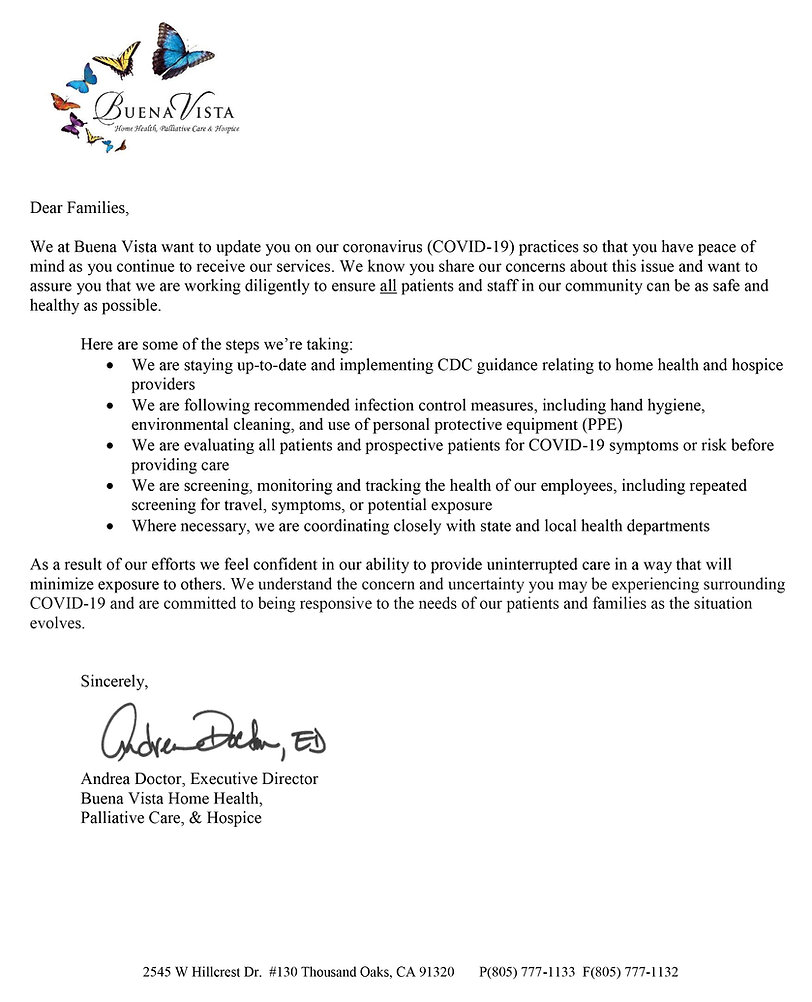 BV Letter to Families COVID19 Andrea sig