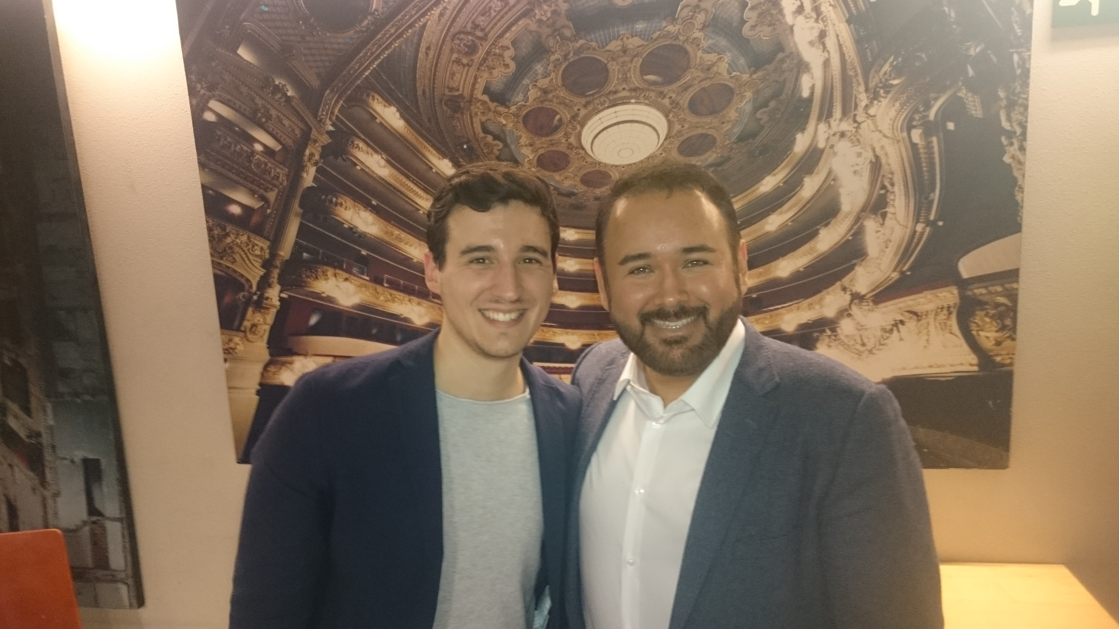 Con Javier Camarena