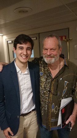 With Terry Gilliam (Monty Python)