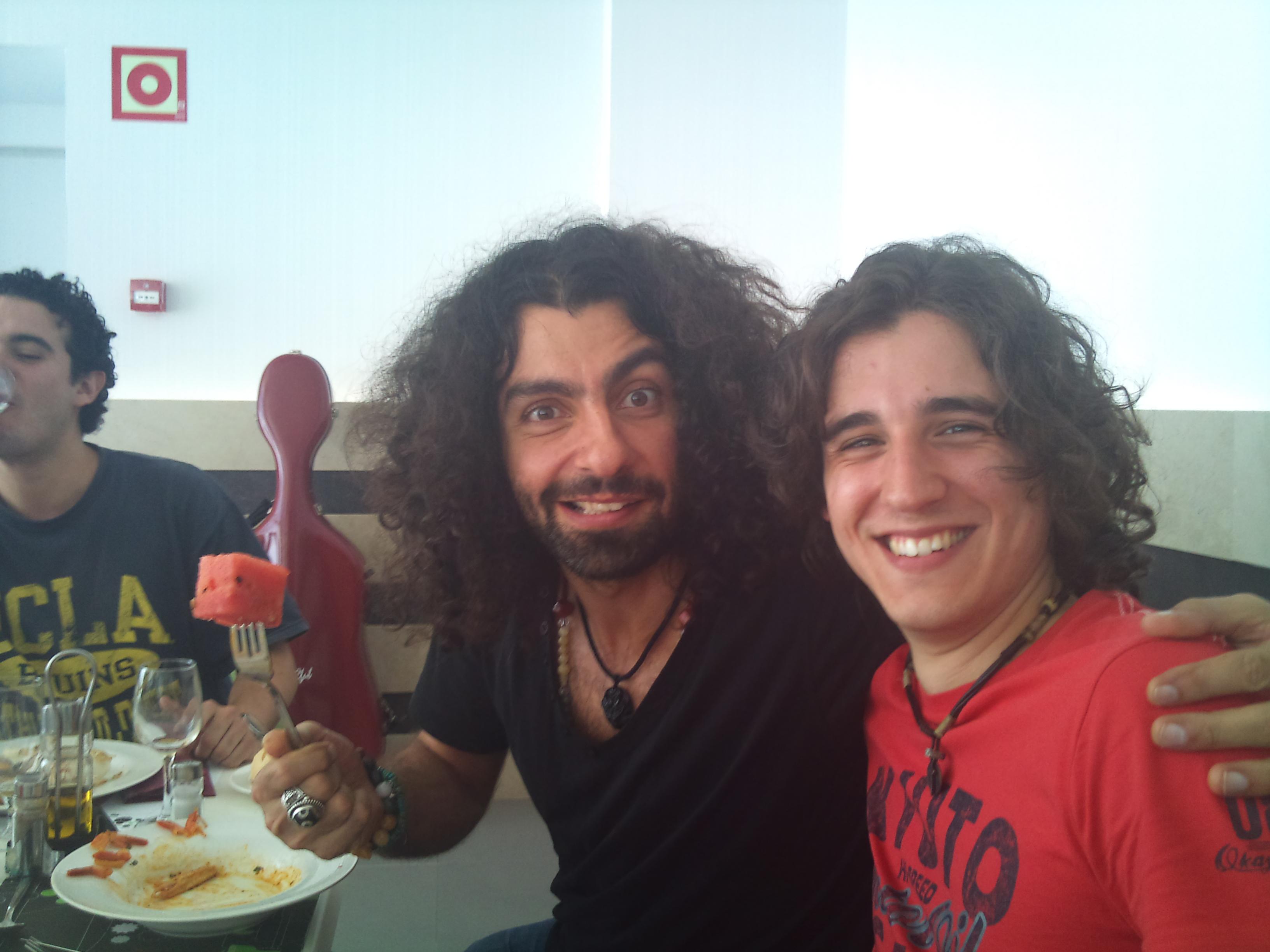 Con el gran violinista Ara Malikian