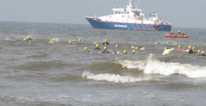 Gegen-den-Wind Triathlon in St. Peter-Ording am 30.06.2012