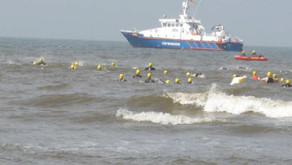 Gegen-den-Wind Triathlon in St. Peter-Ording am 30.06.2012
