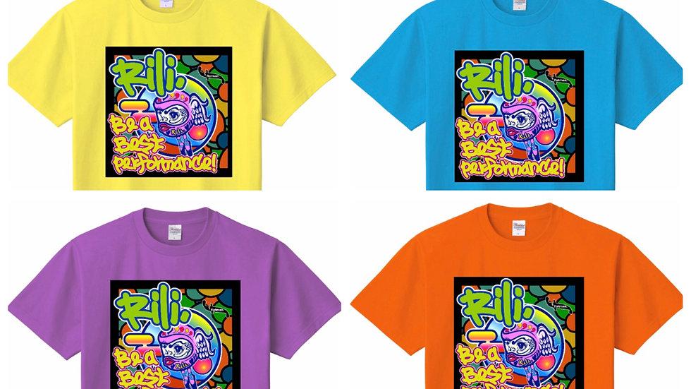 Rili.×flatmanコラボ「Paris初ライブ記念」Tシャツ